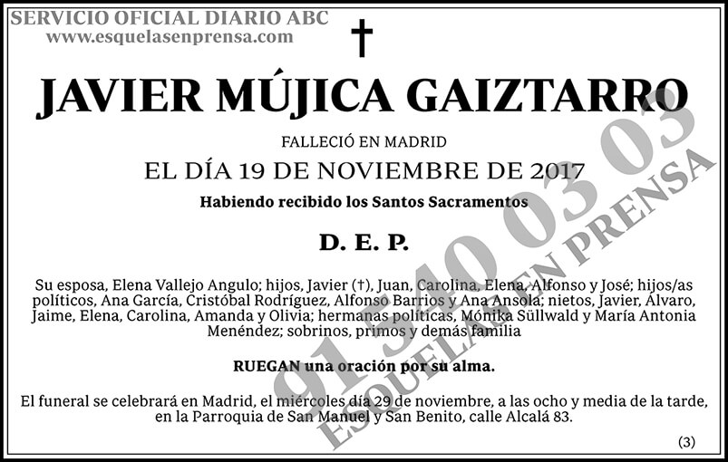 Javier Mújica Gaiztarro
